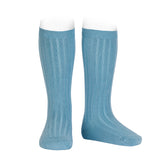 CONDOR SOCKS - Ribbed Knee-High in ICEBERG