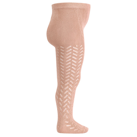 CONDOR TIGHTS - Full Lace in DUSTY BLUSH