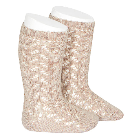 CONDOR SOCKS - Full Lace in LATTE