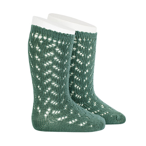 CONDOR SOCKS - Full Lace in FOREST
