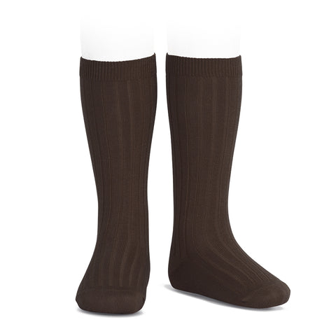 CONDOR SOCKS - Ribbed Knee-High in HICKORY
