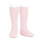 CONDOR SOCKS - Ribbed Knee-High in BALLET PINK