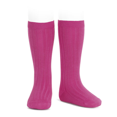 CONDOR SOCKS - Ribbed Knee-High in MAGENTA