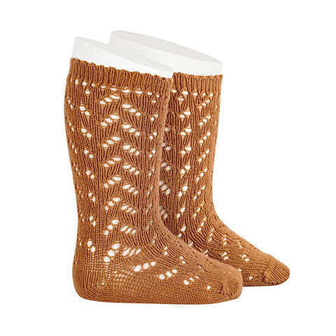 CONDOR SOCKS - Full Lace in GINGERBREAD