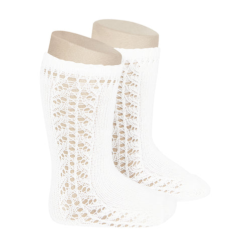 CONDOR SOCKS - Side Lace Knee-High in SNOW