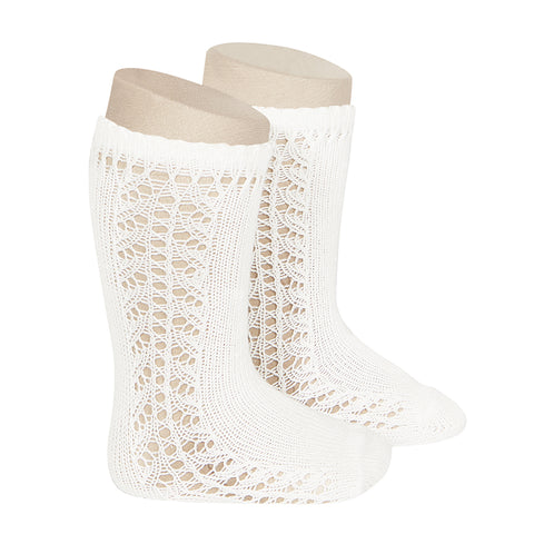 CONDOR SOCKS - Side Lace Knee-High in CLOUD