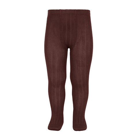 CONDOR TIGHTS - Ribbed in CURRANT