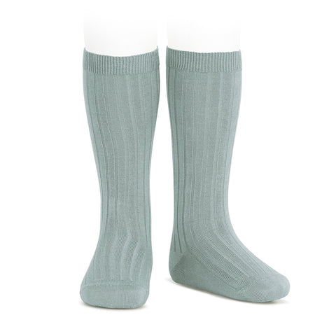 CONDOR SOCKS - Ribbed Knee-High in SAGE