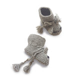 TOM CAT 'Alpaca' Baby Booties - Silver