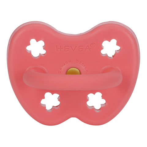 HEVEA Classic Pacifier - Coral