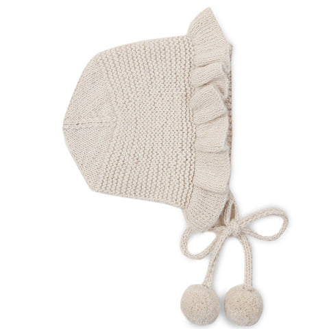 CHLOÉ Frilled 'Alpaca' Bonnet - Cloud