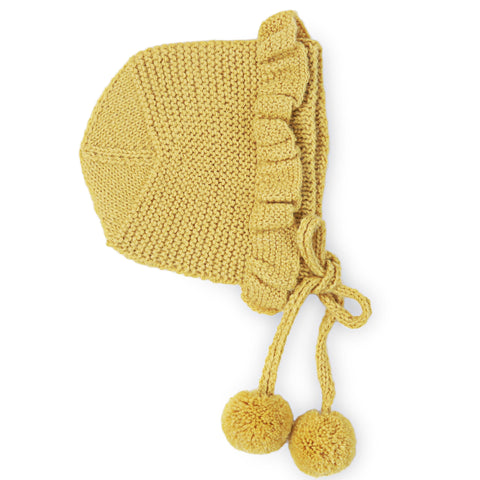 CHLOÉ Frilled 'Alpaca' Bonnet - Acid Yellow