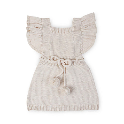 ANOUK Frilled 'Alpaca' Pinafore- Cloud