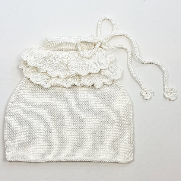 SOPHIA Frilled Top - Pearl