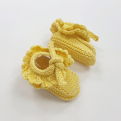 MIMI Frilled Booties - Amarillo