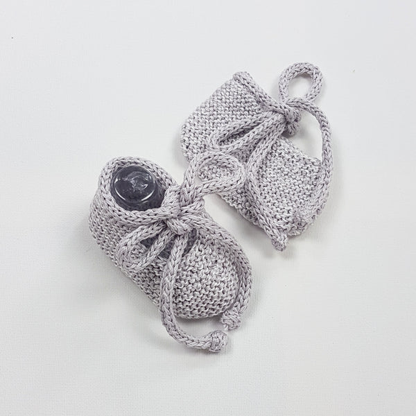 LUKA Baby Booties - Glacier Grey