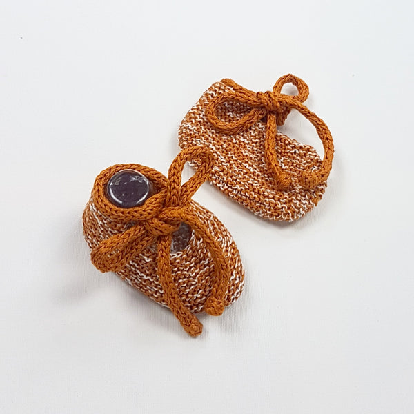 LUKA Baby Booties - Toffee