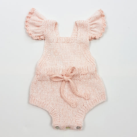 MARGOT Frilled Romper -  Powder Pink