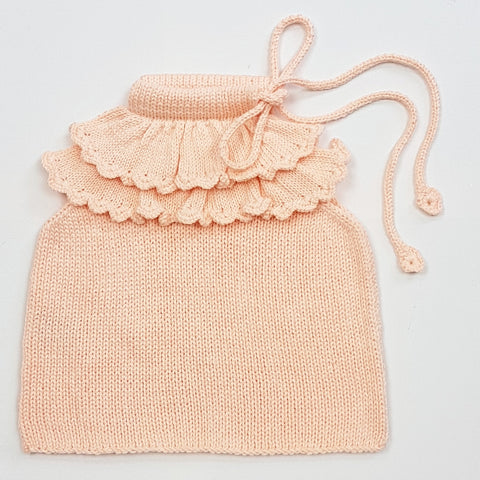 SOPHIA Frilled Top - Peach Pink