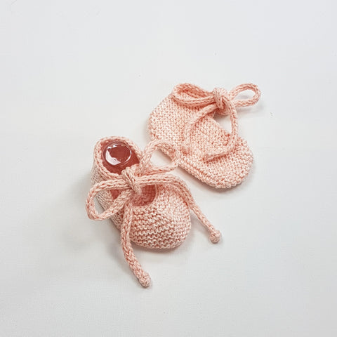 LUKA Baby Booties - Powder Pink