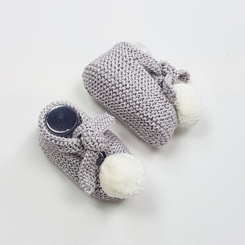 ARLO Baby Booties - Glacier Grey