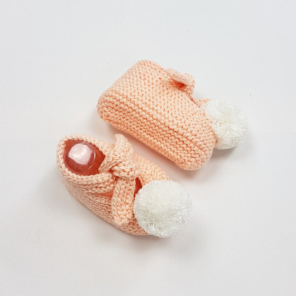 ARLO Baby Booties - Peach Pink