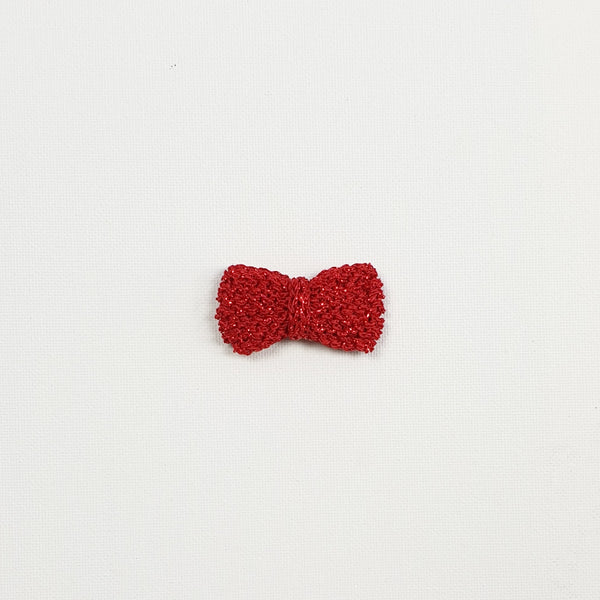 SERAPHINA 'Metallic' Hair Bow - Medium/ Ruby