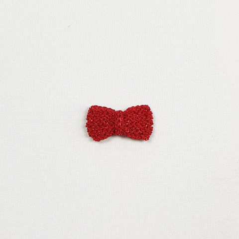 SERAPHINA 'Metallic' Hair Bow - Medium/ Ruby Confetti