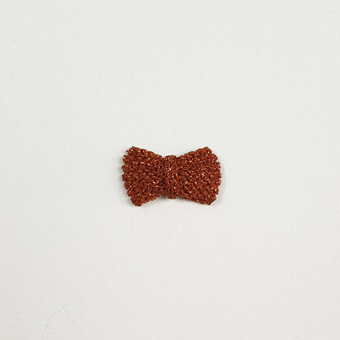 SERAPHINA 'Metallic' Hair Bow - Medium/ Toffee