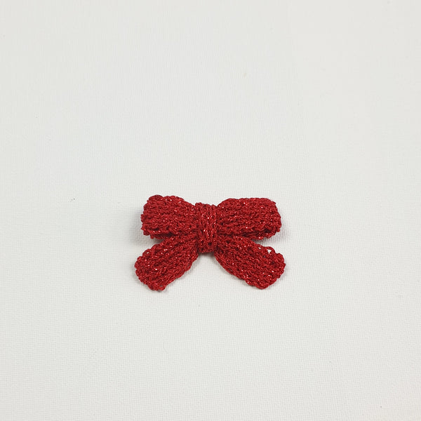 LUCIA 'Metallic' Hair Bow - Medium/ Ruby