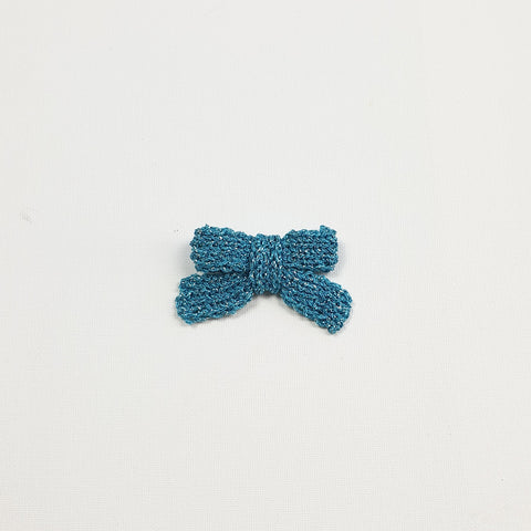 LUCIA 'Metallic' Hair Bow - Medium/ Aqua