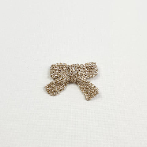 LUCIA 'Metallic' Hair Bow - Medium/ Platinum