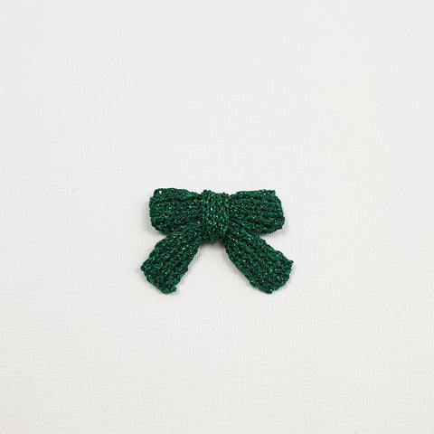 LUCIA 'Metallic' Hair Bow - Medium/ Emerald