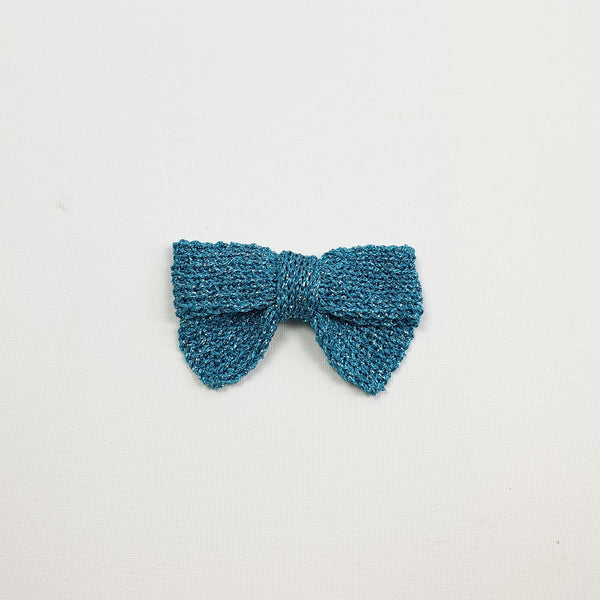 LUCIA 'Metallic' Hair Bow - Large/ Aqua