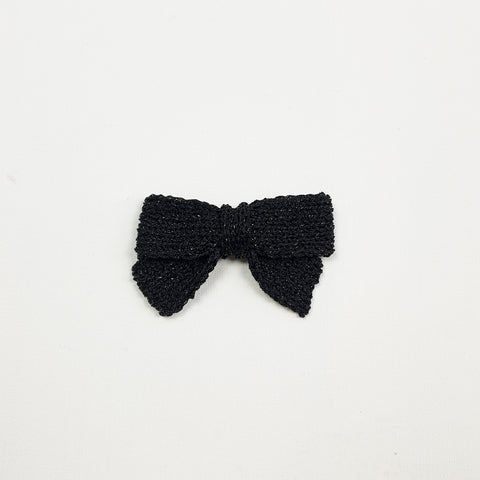 LUCIA 'Metallic' Hair Bow - Large/ Black