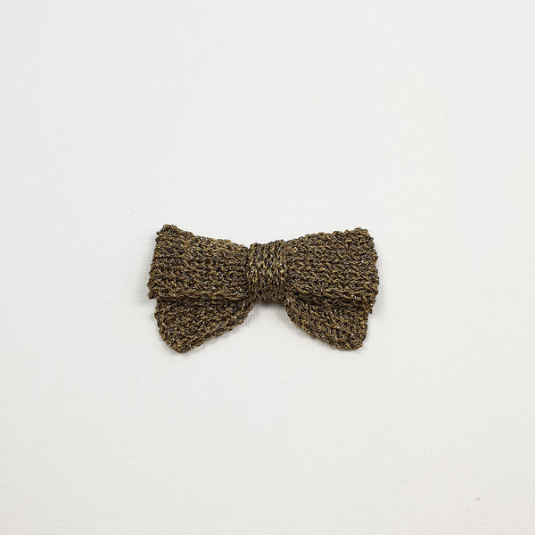 LUCIA 'Metallic' Hair Bow - Large/ Pewter