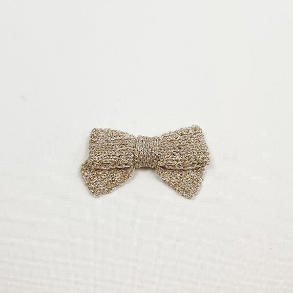 LUCIA 'Metallic' Hair Bow - Large/ Platinum