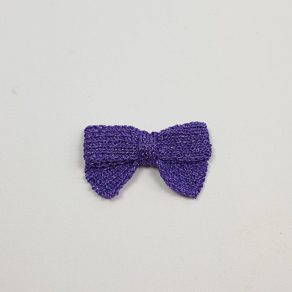 LUCIA 'Metallic' Hair Bow - Large/ Lilac