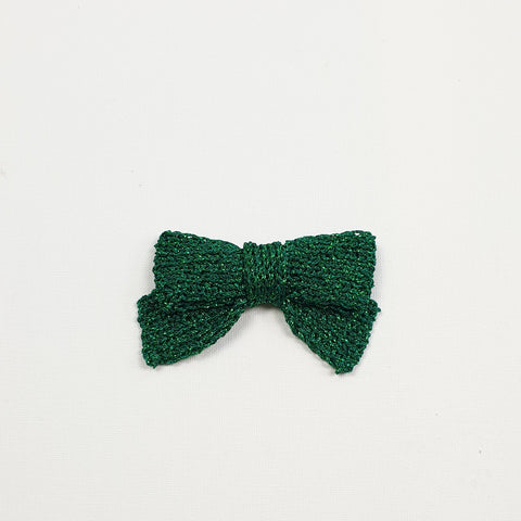 LUCIA 'Metallic' Hair Bow - Large/ Emerald