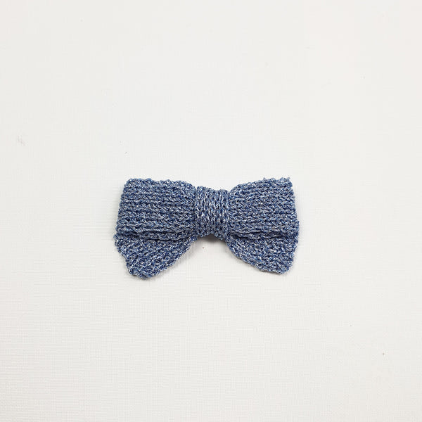 LUCIA 'Metallic' Hair Bow - Large/ Sky Blue