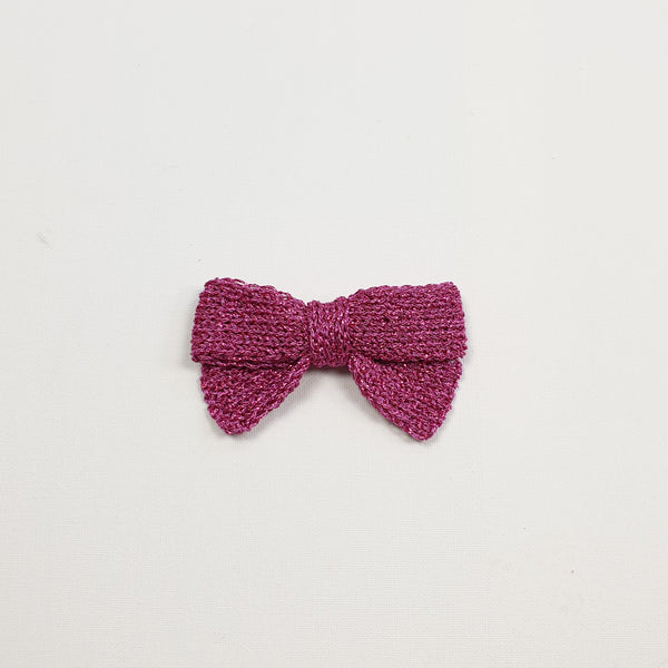LUCIA 'Metallic' Hair Bow - Large/ Hot Pink