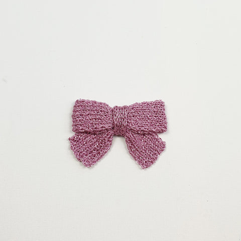 LUCIA 'Metallic' Hair Bow - Large/ Soft Pink