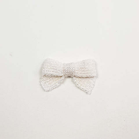 LUCIA 'Metallic' Hair Bow - Large/ Pearl