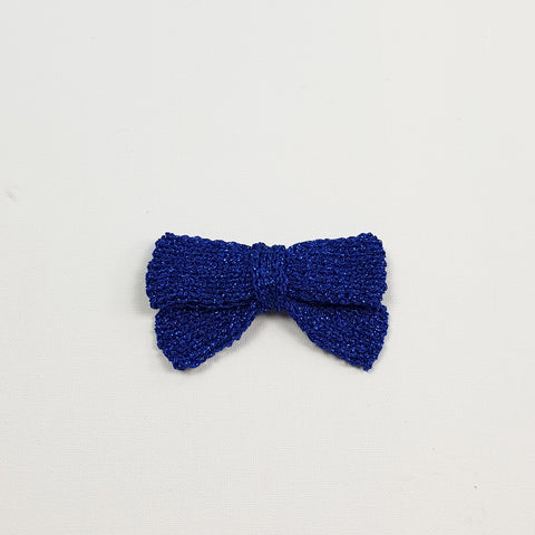 LUCIA 'Metallic' Hair Bow - Large/ Royal Blue