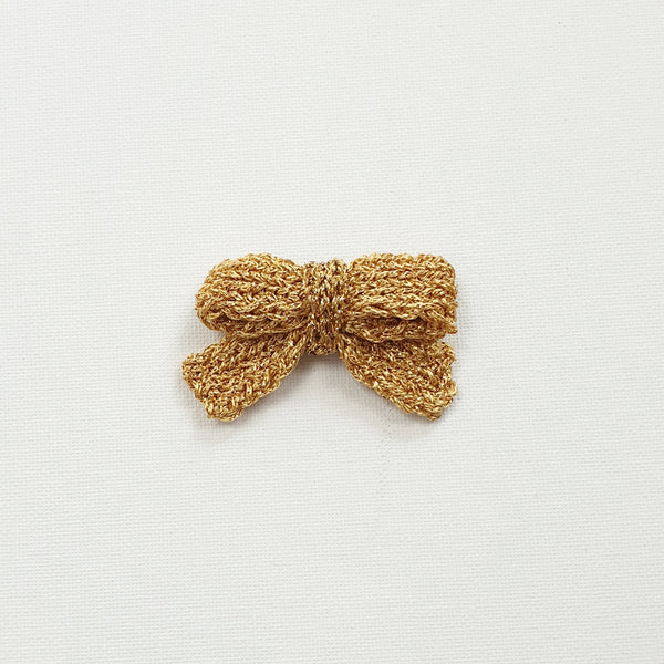 LUCIA 'Metallic' Hair Bow - Medium/ Gold