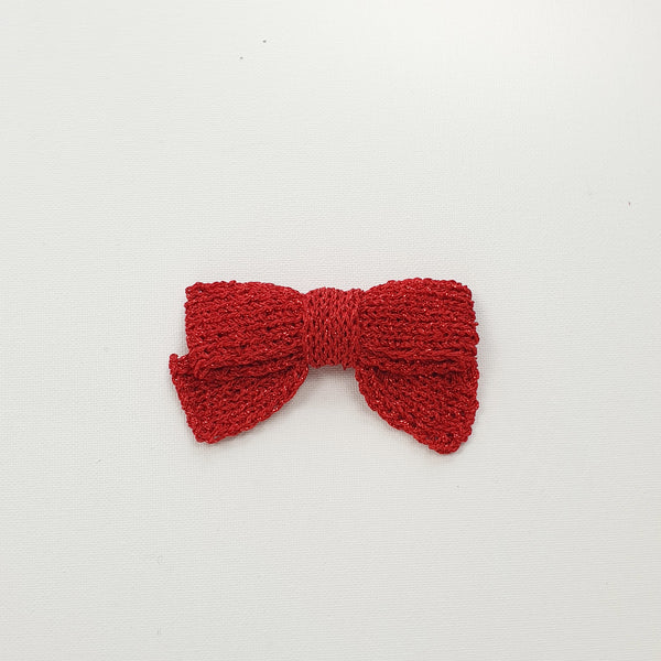 LUCIA 'Metallic' Hair Bow - Large/ Ruby