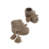 TOM CAT 'Alpaca' Baby Booties - Latte