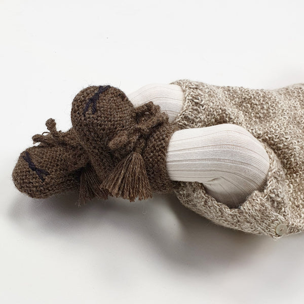 TOM CAT 'Alpaca' Baby Booties - Mocha