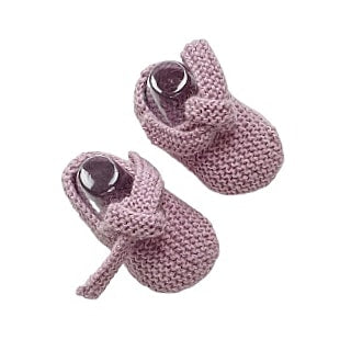 GET KNOTTED 'Alpaca' Baby Booties - Candy Pink