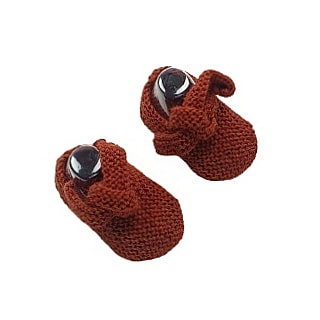 GET KNOTTED 'Alpaca' Baby Booties - Copper